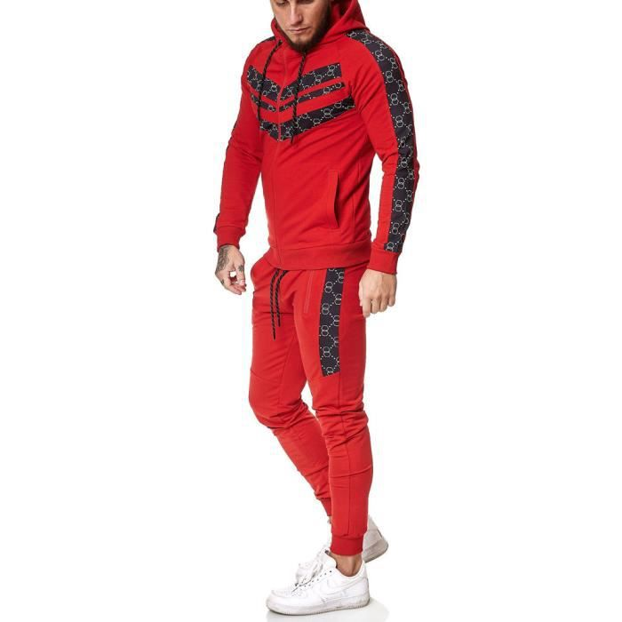 Ensemble jogging homme Survêt 13108 rouge