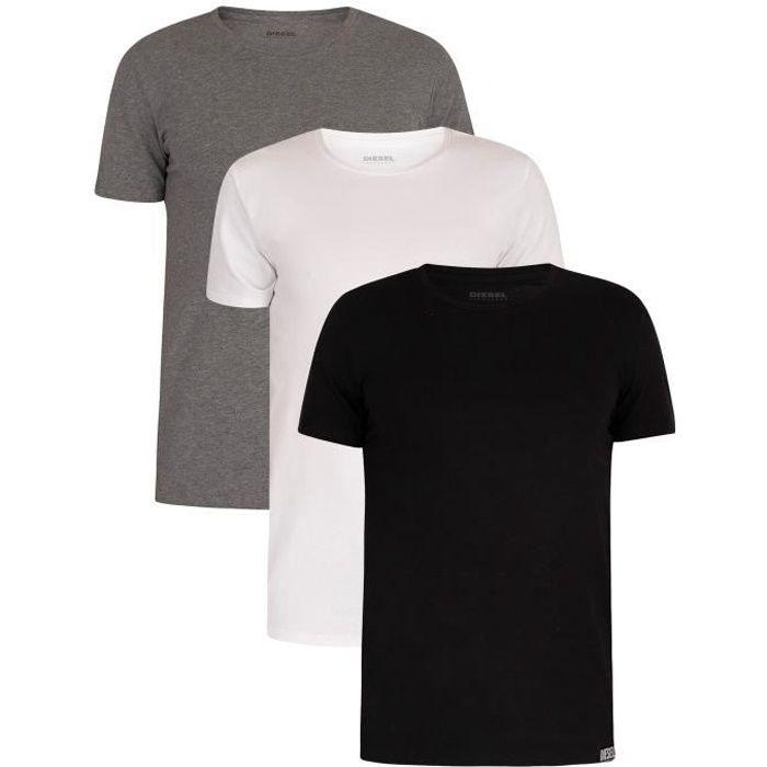 Diesel Pour des hommes Lot de 3 T-shirts Randal Lounge, Multicolore