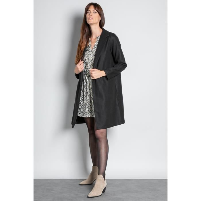 DEELUXE Manteau long uni HANNA Black