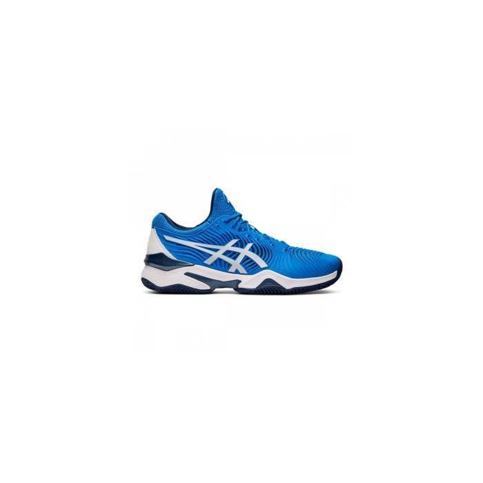 Chaussures ASICS Homme Court FF NOVAK Clay Terre Battue Bleu / Blanc AH 2019