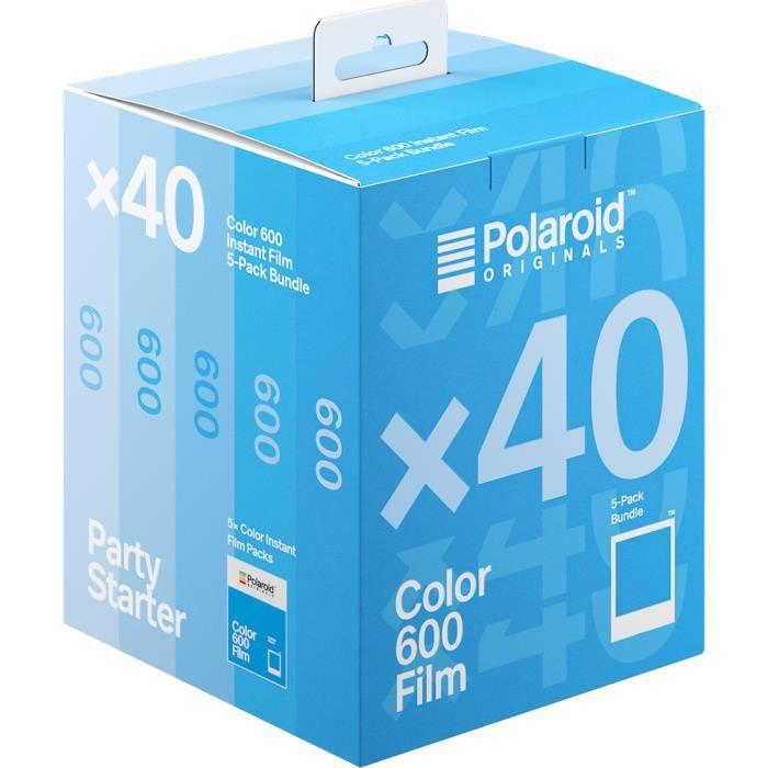 Pack de 40 Photos Couleur Polaroid pour Appareils 600