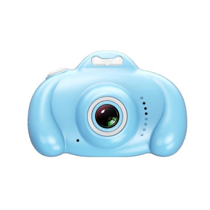 Appareil photo numérique pour enfants 1600W avec double objectif+32G Bleu