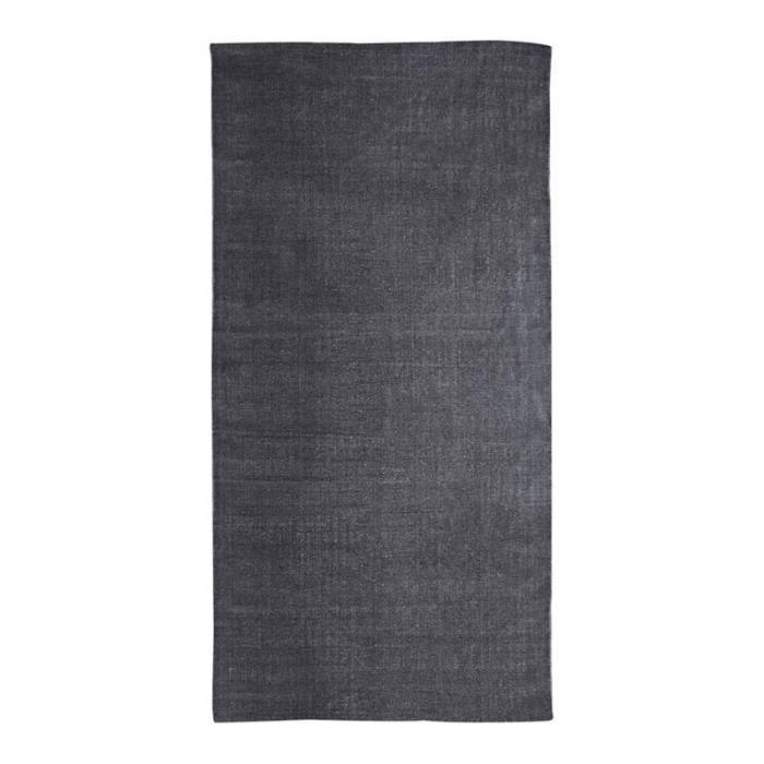DUNES - Tapis effet délavé noir 60x120