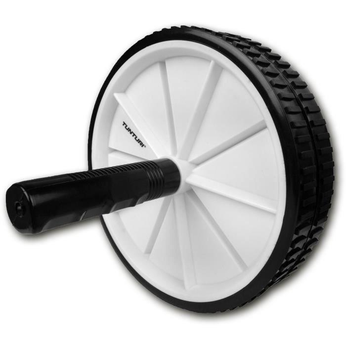 TUNTURI Double roue abdos Deluxe noir