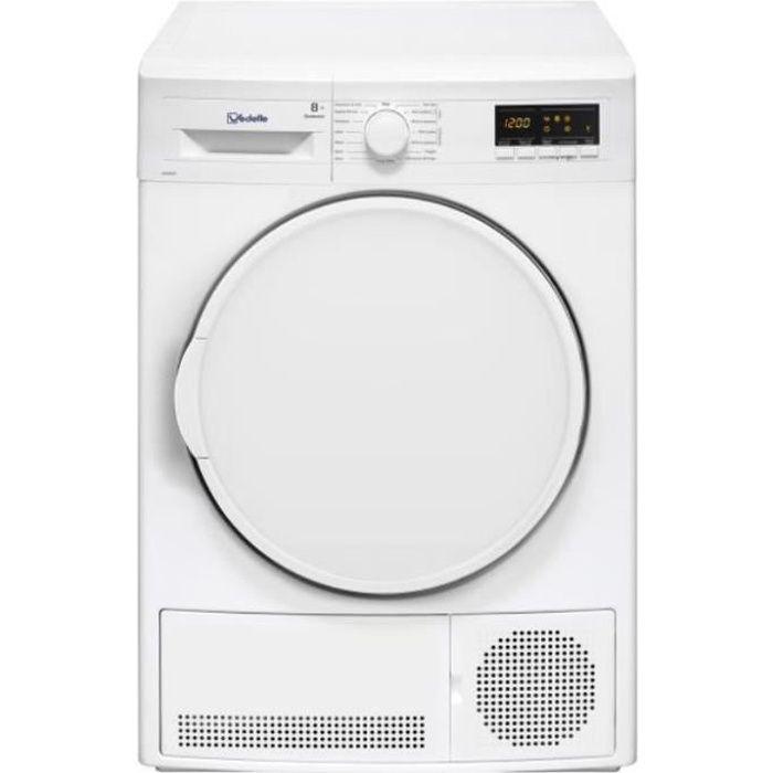 vedette - sèche-linge à condensation 60cm 8kg b blanc - vdm8cw