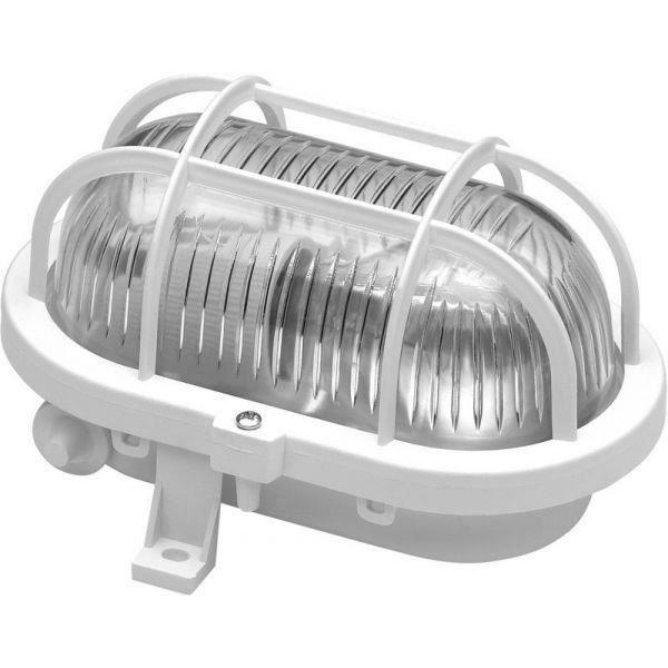 Hublot ovale grille plastique 60 w E27 VOLTMAN …