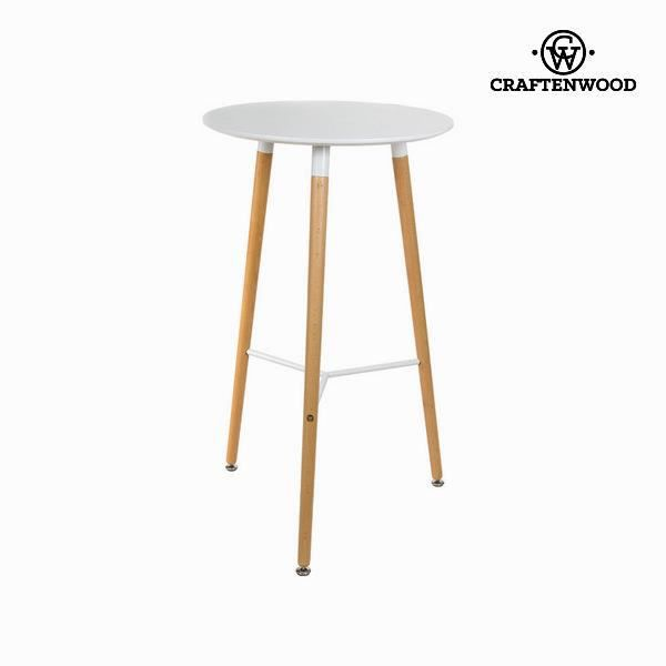 Table haute blanche by craften wood achat vente table for Table haute 4 personnes