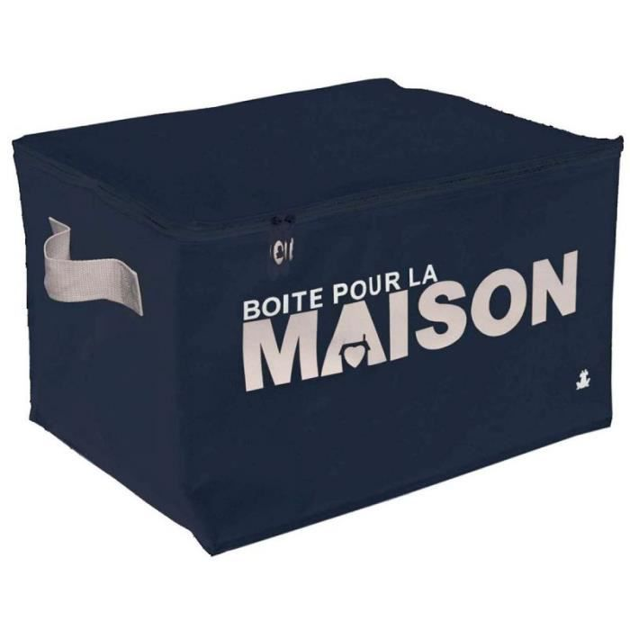 bo te de rangement family s bleu marine 30 x 35 achat vente boite de rangement textile. Black Bedroom Furniture Sets. Home Design Ideas