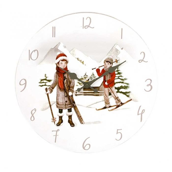 Horloge murale 30 cm alpine d co montagne achat for Decoration murale montagne