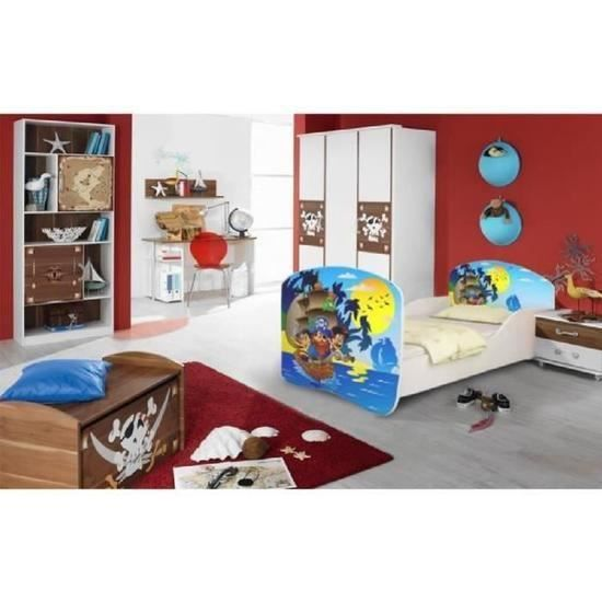 lit pirate enfant avec sommier achat vente lit pirate. Black Bedroom Furniture Sets. Home Design Ideas