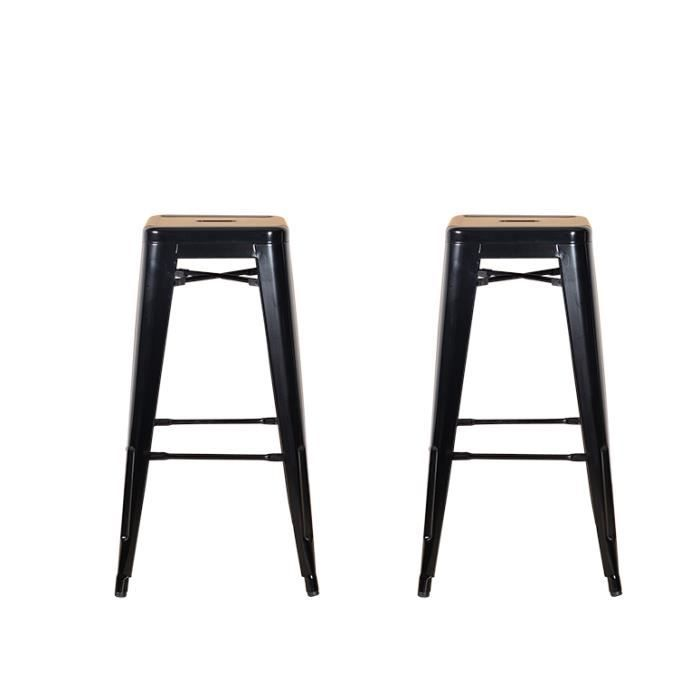 lot de 2 tabourets de bar m tal noir iron achat vente tabouret de bar m tal epoxy cdiscount. Black Bedroom Furniture Sets. Home Design Ideas