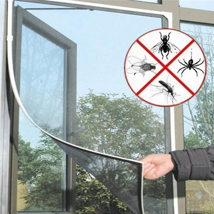 Moustiquaire fenêtre Klemmfix Protection insectes-Fenêtres à Grille Alu Cadre moustiques