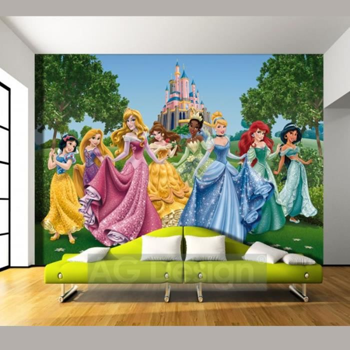 papier peint ch teau et princesses disney achat vente. Black Bedroom Furniture Sets. Home Design Ideas