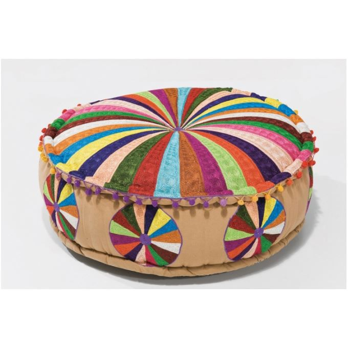 pouf en tissu multicolore colombo achat vente pouf poire tissu coton cdiscount. Black Bedroom Furniture Sets. Home Design Ideas