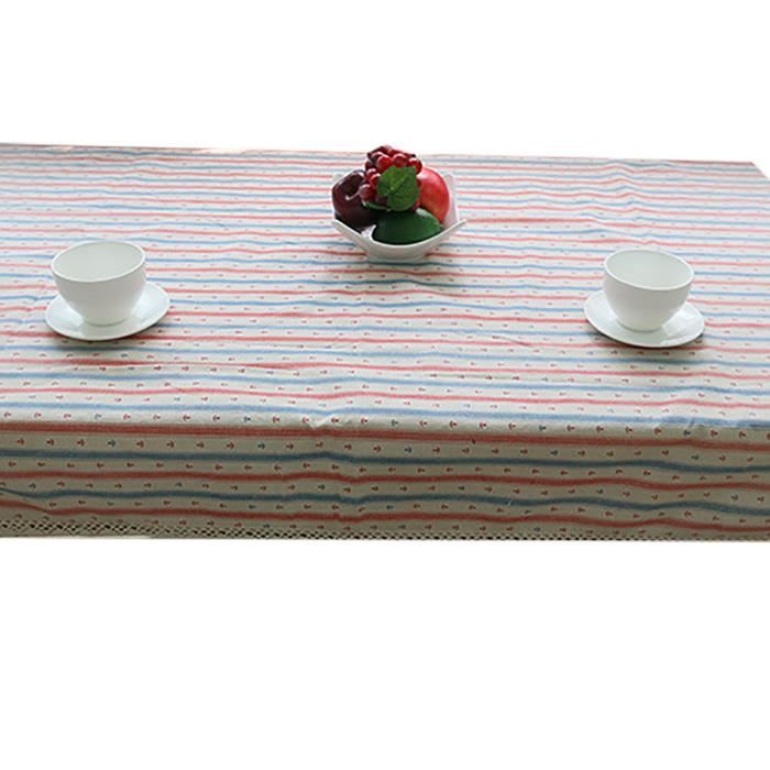 Keral decoration de table nappes a rayures table d for Deco table exterieur