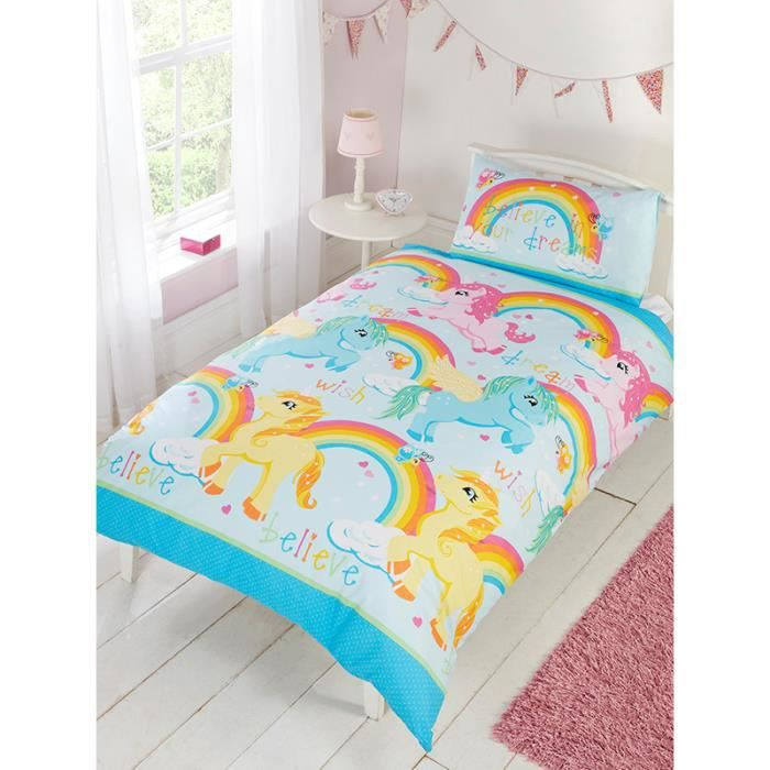 linge de lit licorne achat vente linge de lit licorne pas cher cdiscount. Black Bedroom Furniture Sets. Home Design Ideas