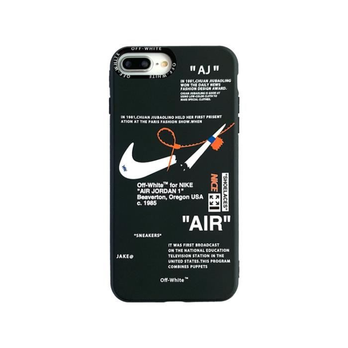 coque iphone xs max nike off white noir antichoc p