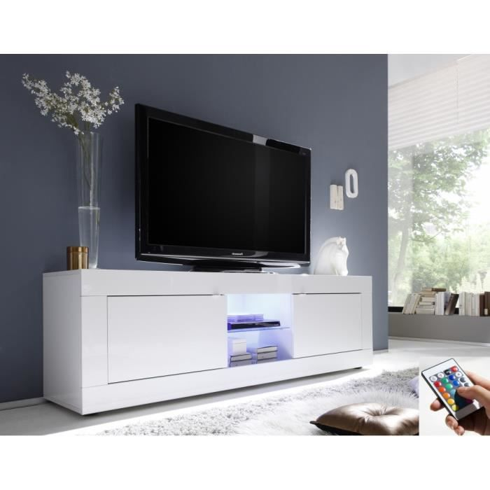 Mobilier table meuble tv laqu blanc brillant - Meuble blanc laque brillant ...