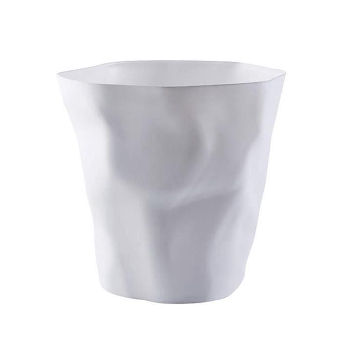 . Poubelle Cuisine Design Créatif Wrinkled déformée Forme Plastique  Corbeille à Papier pour Famille Cuisine Burea
