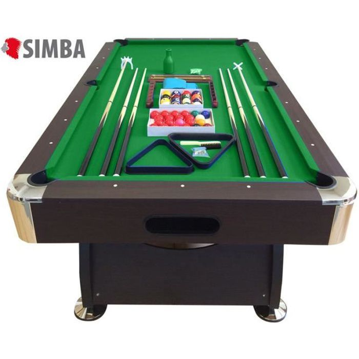 Billard americain 8 ft 250cm neuf table de pool snooker meuble salon table de billard achat Prix d un billard table
