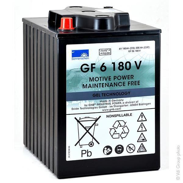 BATTERIE VÉHICULE Batterie plomb traction GF06180V 6V 180Ah