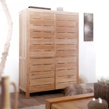 armoire bois massif teak teck 160cm meuble de r achat. Black Bedroom Furniture Sets. Home Design Ideas