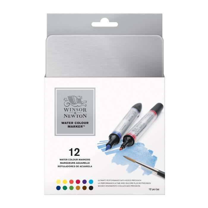 Photo de winsor-newton-aquarelle-marqueurs-fixes-de-12