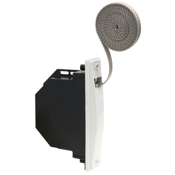 Schellenberg 50001 Maxi Enrouleur /à encastrer pour sangles de volet roulant Largeur 23 mm Ecartement des trous 13,5 cm