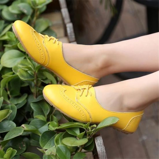 Chaussure xz043jaune36 Femmes Cuir Bylg Chaussures Occasionnelles Leger f7yYb6g