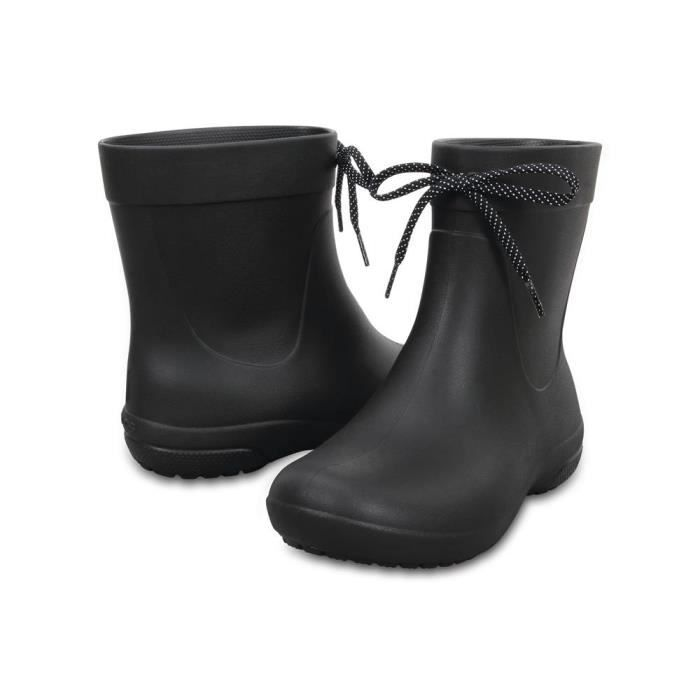 Crocs Freesail Women's Shorty Rain Boot, Black