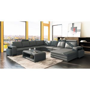 canape panoramique 10 places achat vente canape. Black Bedroom Furniture Sets. Home Design Ideas