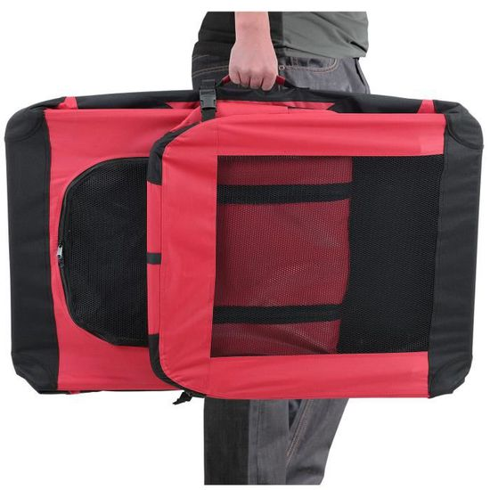 box de transport pour chien taille XXXL bleu roi - pliable pro.tec
