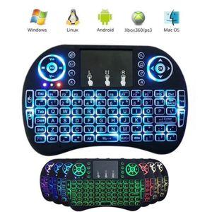 CLAVIER D'ORDINATEUR Mini clavier sans fil 2,4 GHz avec pavé tactile mu