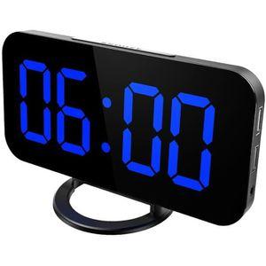 Radio réveil Réveil numérique de Miroir LED avec grand affichag