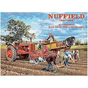 AFFICHE - POSTER Nuffield signe de métal Tracteur (og 2015) affiche