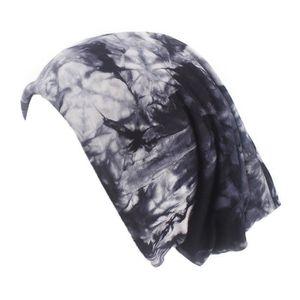 ECHARPE - FOULARD Women India Muslim Stretch Retro Print Turban Hat