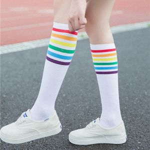 Mesdames Cuisse Haute Noir Stripey Stockings