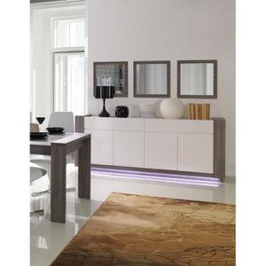 BUFFET - BAHUT  Buffet AUGUSTO grand modéle + 3 miroirs coloris gr