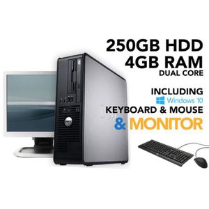 PC RECONDITIONNÉ Dell OptiPlex Dual Core 4GB RAM 250GB HDD Windows