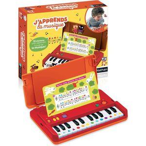 Jouet Piano Musical pour Enfant /Éducatif de Musique pour Gar/çon//Fille Noir 49,5 x 48,5 x 49,5 cm Costway Piano pour Enfants /à 30 Touches avec Pupitre Banc