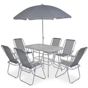 Table de jardin avec parasol