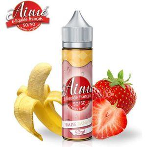LIQUIDE E-liquide Aimé Fraise Banane 50ml - 6mg