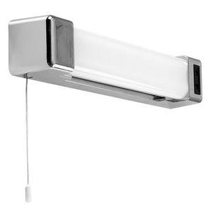 Luminaire salle de bain avec prise