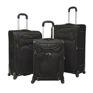 SET DE VALISES Set 3 valises, 4 roues pivotantes NOIR