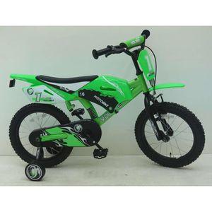VÉLO ENFANT Vélo Enfants Motobike 16 Pouces avec Roues de Stab