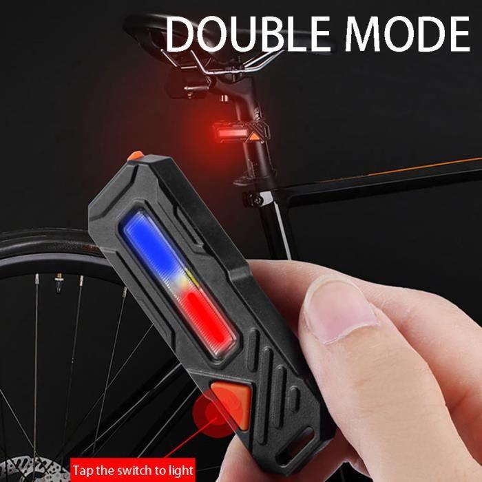 ECLAIRAGE POUR CYCLE LED USB rechargeable lumière de vélo arrière queue lampe vélo Avertissement de sécurité étanche BRF90603003_365