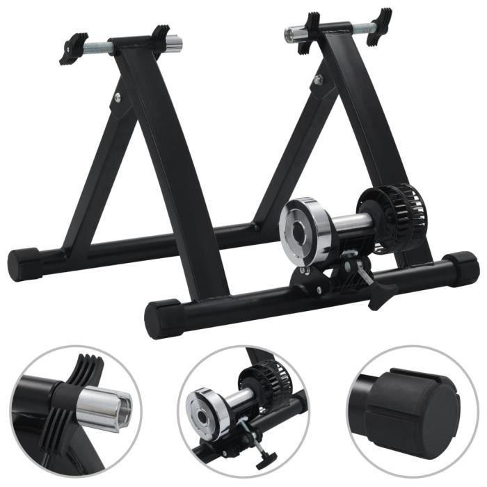 XIJ Support à rouleau pour vélo d'appartement 26po-28po Noir Acier