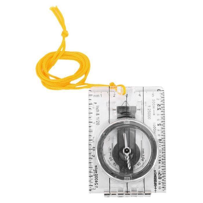 XUY Boussole Multifonctionnel Acrylique Pliable Transparent Pour Camping Randonnée