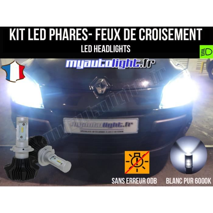 Kit Ampoules de phares à LED H7 Haute Performance pour RENAULT MEGANE 3