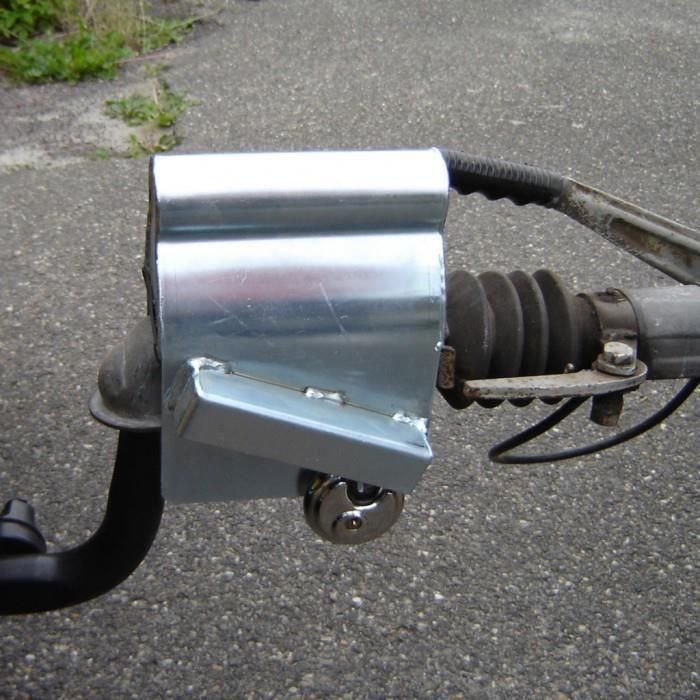 Pieces pour remorques de vehicules motorises Antivol tete d'attelage avec cadenas rond ProPlus 341326S